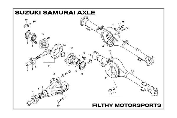 suzuki samurai differential exploded diagram