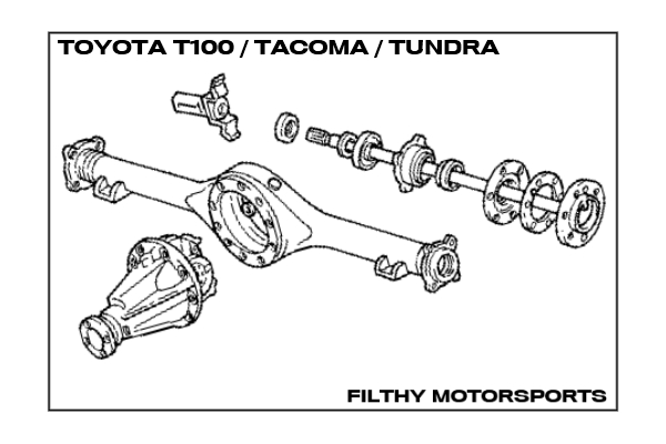 96 toyota t100 rear axle diagram